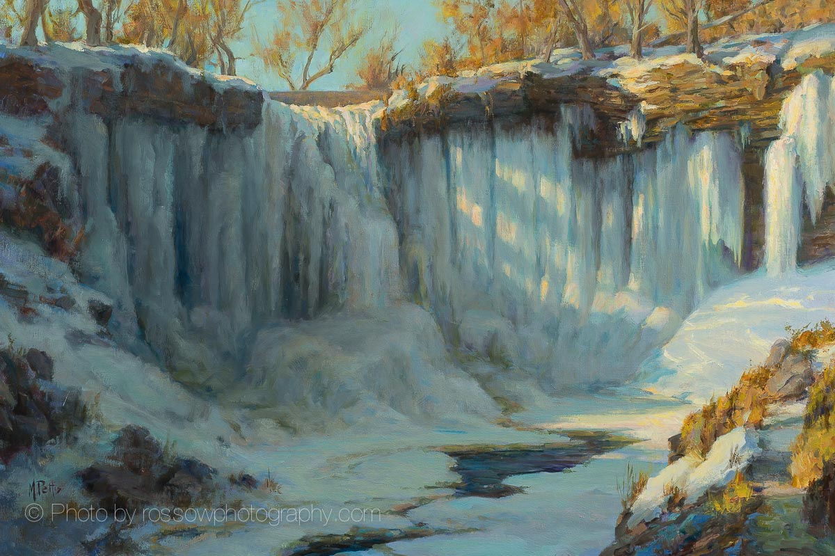 Artwork Photography of Minnehaha Falls in Winter by Mary Pettis