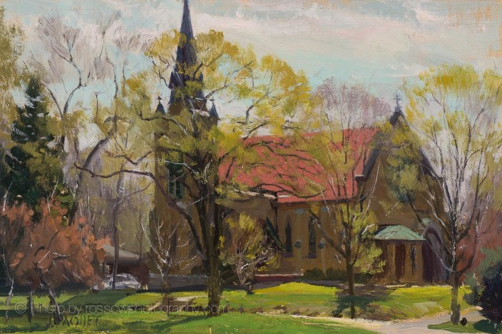 Church in Spring 8x12