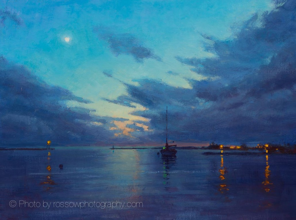 Harbor Evening Clouds 12x16