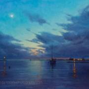 Harbor Evening Clouds 12x16