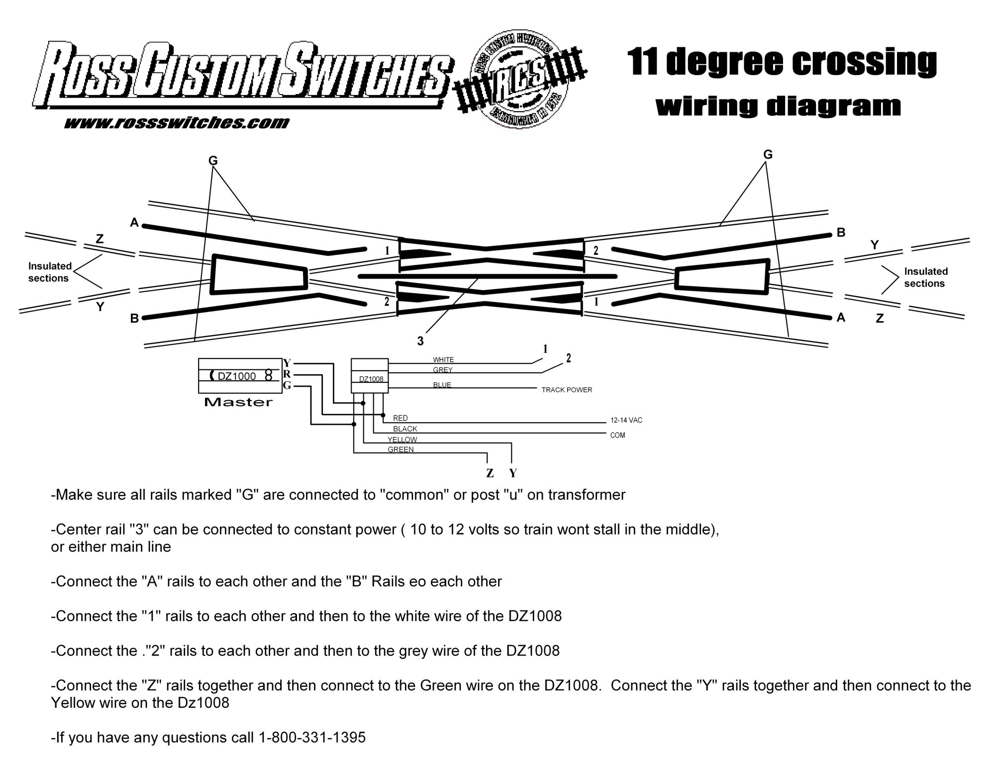 hight resolution of using dz1008 11 degree crossing
