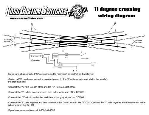 small resolution of using dz1008 11 degree crossing