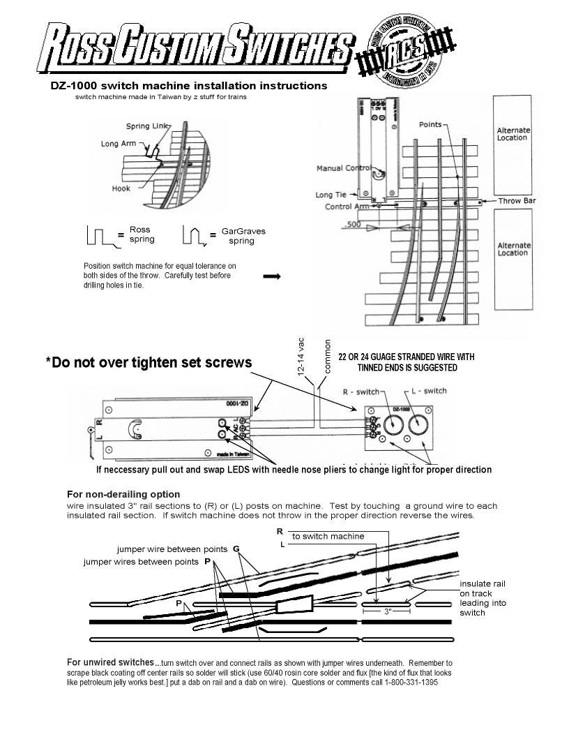 medium resolution of  dz1000 switch machine instructions faq dz1000 switch machine instructions lionel train track switches wiring diagram