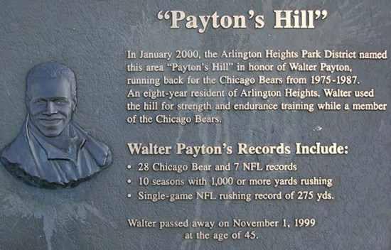 Walter Payton Hill Sprints