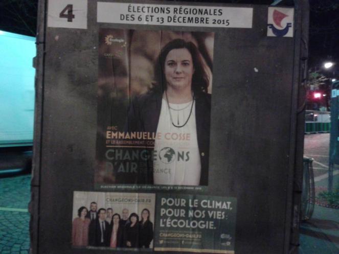 Grüne Kandidat*innen bei der Regionalwahl in Frankreich.