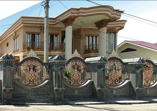 contoh pagar rumah minimalis pagar besi tempa
