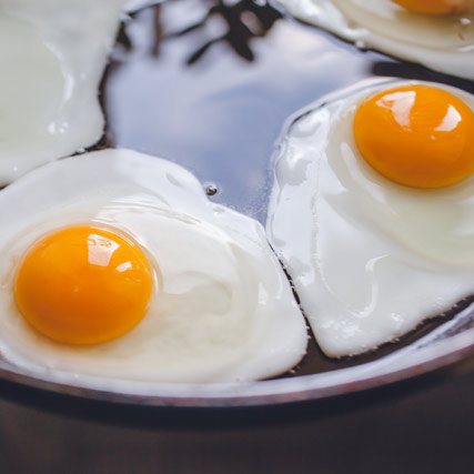 Fried Duck Egg Sunny-Side Up