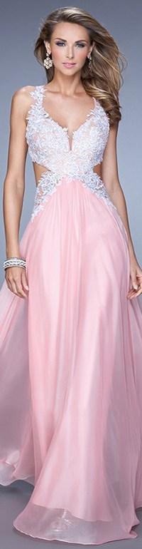 Cotton Candy Pink Side Cut Out Crisscross Back Applique ...