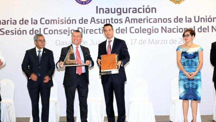 Inaugura el Gobernador Alejandro Murat reunión de Notariado del Continente Americano