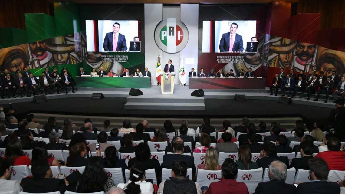 El PRI por fin asomó la cabeza; sesionó su Consejo Político Nacional