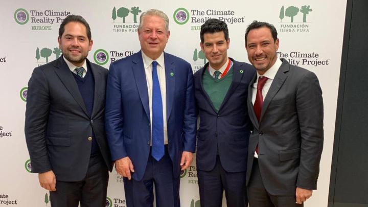 Se reunió Raúl Bolaños Cacho Cué con el ex vicepresidente de EUA, Al Gore