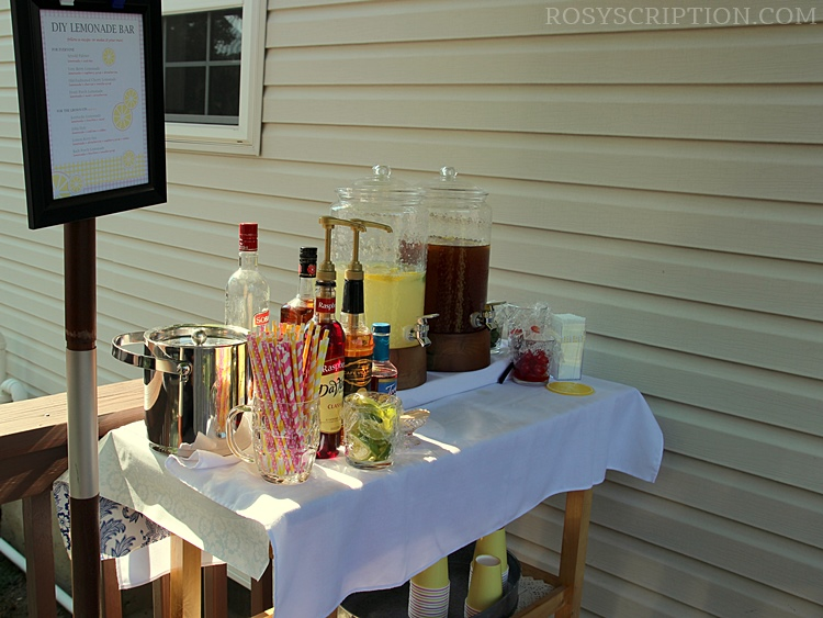 DIY Lemonade bar idea