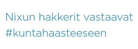 Nixu lähtee ensimmäisenä tietoturva-alan yrityksenä mukaan Team Rot -ryhmän #kuntahaaste -nimiseen tempaukseen ja haastaa samalla alan muut toimijat mukaan edistämään suomalaisten kuntien tietoturvan tasoa.