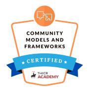 community management models frameworks manager certification badge rotana ty