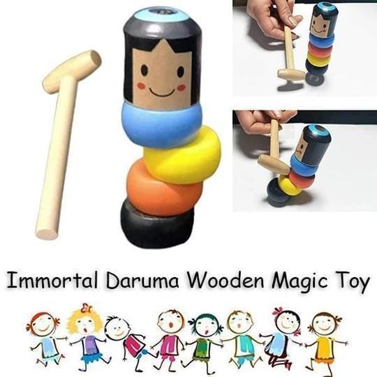 Immortal Daruma Wooden Magic Toy