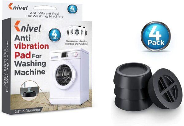 4 Pcs Washing Machine Foot Pads for Anti-vibration and Anti-Walk