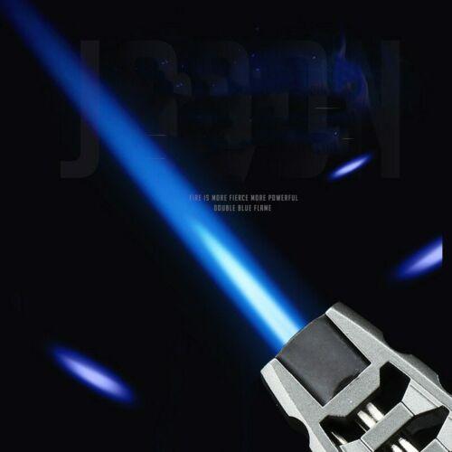 New Powerful Windproof Blue Flame Jet Butane Torch Metal Gas Turbo Cigar Lighter