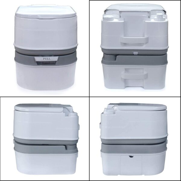 Gallon 24L Portable Toilet Flush Travel Camping Commode Potty Outdoor/Indoor