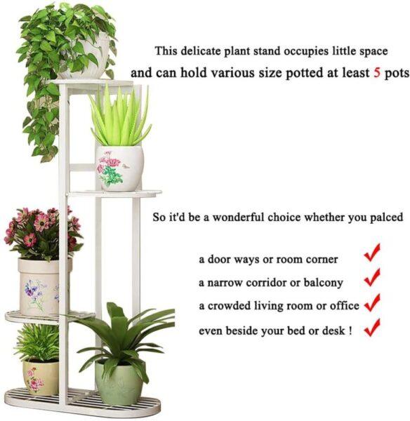 Multiple Flower Pot Holder Shelves Planter Rack Storage Organize