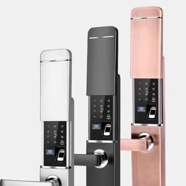 2021 New Security Intelligent Door Lock Biometric Fingerprint Lock Digital Lock Safe