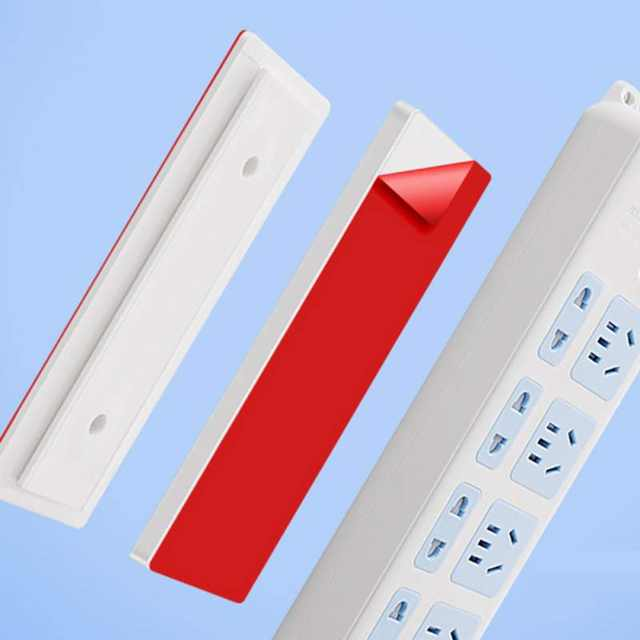 Self Adhesive Power Strip Wall Mount,for Power Strip WiFi Router and Remote Control