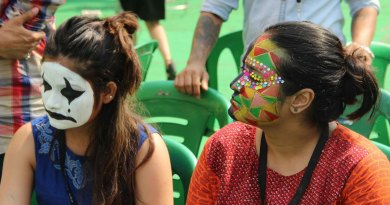 Face-painting-participants