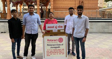 Rotaractors with a 'Bhalai nu Box'.