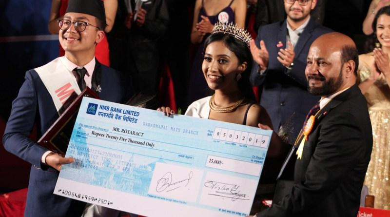 DGE Chintamani Bhattarai honouring the winners.