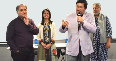 DG Shashikumar Sharma delivering a talk as DGN Sunil Mehra (L) and DRR Hansika Sahani look on.
