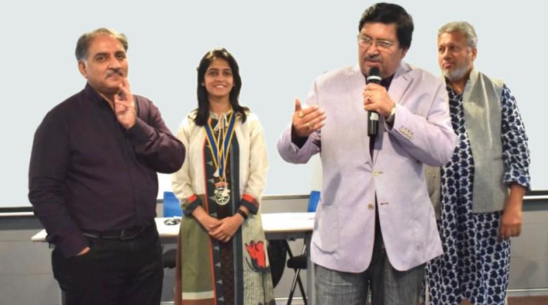 DG Shashikumar Sharma delivering a talk as DGN Sunil Mehra (L) and DRR Hansika Sahani look on.