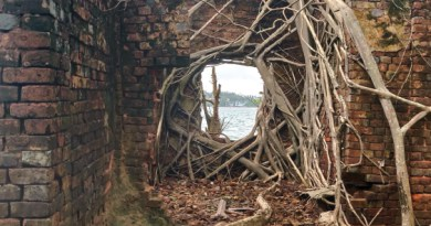 The ruins of Ross Island.