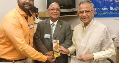 PDRR Kshitij Choudhari (L) with PRIP Rajendra Saboo (R).