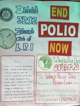 inter house polio chart decoration interact club of l.r.i school 2
