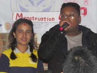 menstruation awareness program interact club of svi 1