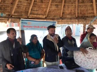 distribution of blankets rc kantipur 6