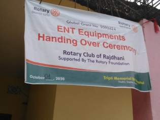 Medical Equipment handed over to Tripti Memorial ENT Hospital- rc rajdhani (5)