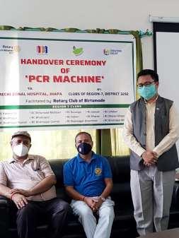 PCR handover to mechi zonal Hospital - region 7 clubs (9)