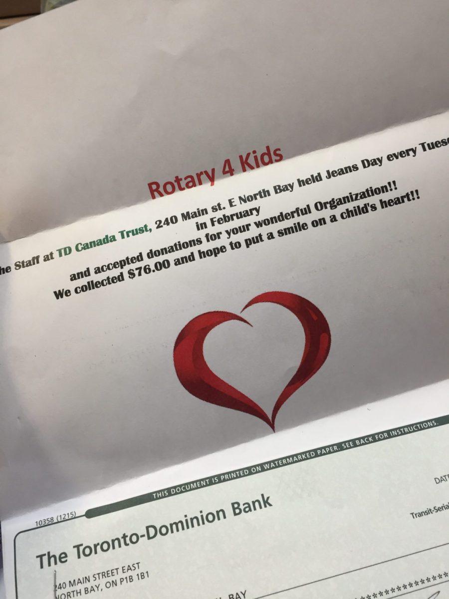 Thanks TD Canada Trust Main Street Staff – Rotary4Kids