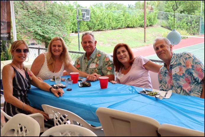 Joy Giordano, Dana Goldberg, Grant Guthrie, Melissa and Sonny Tannenbaum