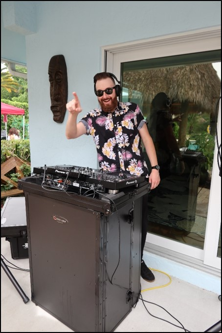 Our DJ provided great island music!
