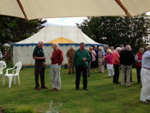 Guests & Rotarians enjoying the evening