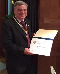Gus Iannotti, Paul Harris award winner