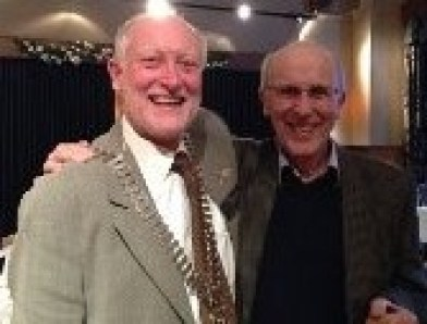 President Douglas with Jimmy Begg, the winner of the infamous Willie Stewart Quiz