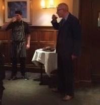 ....then toasting the haggis