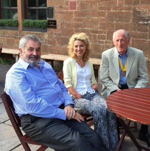 Colin Vooght, Olivia Giles & President Elect, Harry Peters