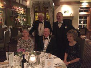 John Ewing, Niven Rennie, Marjory Ewing, President Harry Peters, Joan Peters