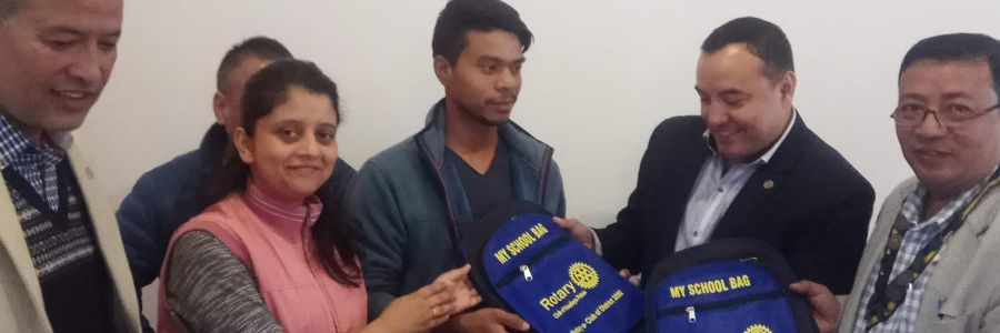 My School Bag Distribution by Rotary E-Club of District 3292, Nepal and Rotary Club of Himalaya Patan
