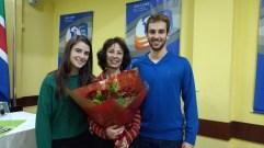 Enilda Rosa de Moraes, sua filha Ingrid e seu filho Mauro.