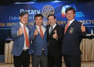 Anseung East Rotarians with PP Francis dela Cruz.