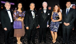 PRIP ­Wilfrid ­Wilkinson (fourth from left) with event ­organiser Rtn ­Nabil Mitry (third from left) and other guests.